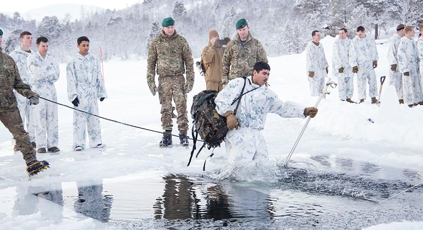 US Marines driver vintertrening i Norge. Foto: Forsvaret